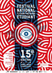Affiche 15ème Festival National du Court-Métrage Etudiant