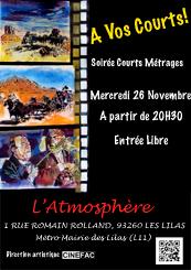 Affiche Soirée Court-métrage à l'Atmosphère