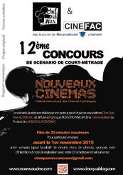 Affiche Concours de Scénario Nouveaux Cinémas 2015_16