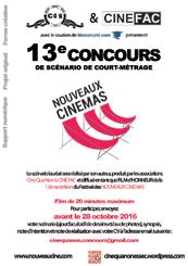 Affiche 13è Concours de scénario Nouveaux Cinémas