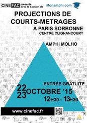 Affiche Projections Nouveaux Cinémas à Paris Sorbonne