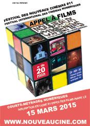 Affiche Appel à films 11ème Festival des Nouveaux Cinémas 2015