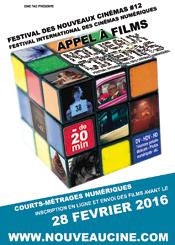 Affiche Appel à films 12ème Festival des Nouveaux Cinémas