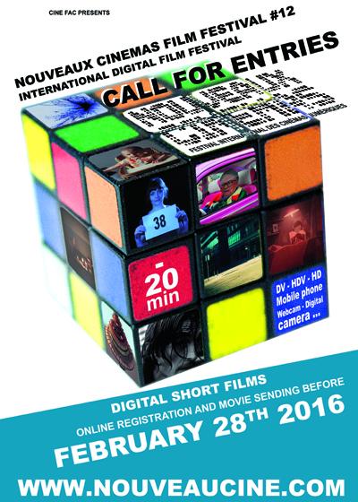 Affiche Appel � films 12�me Festival des Nouveaux Cin�mas